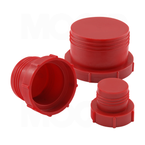 Threaded Plastic Plugs for Flat-Faced O-Ring Fittings